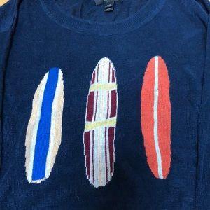 J crew surfboard lightweight sweater